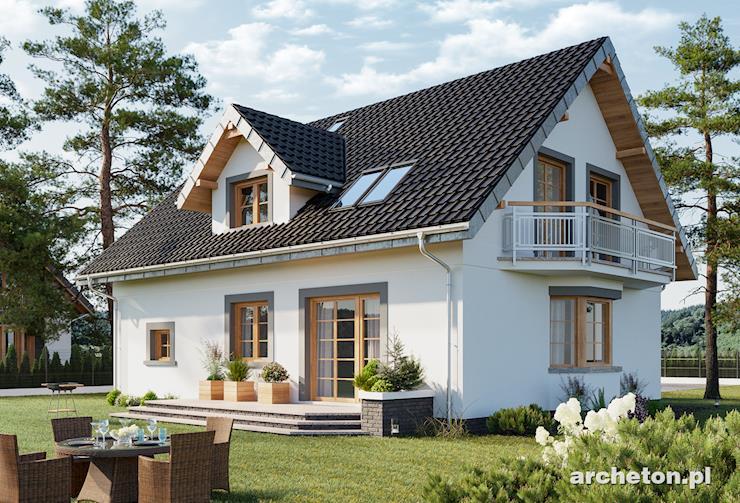 Projekt domu Zofia Polo - dom z dużym pokojem dziennym z kominkiem