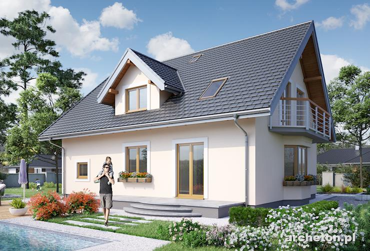 Projekt domu Zofia Portyk - przytulny dom jednorodzinny z trzema łazienkami