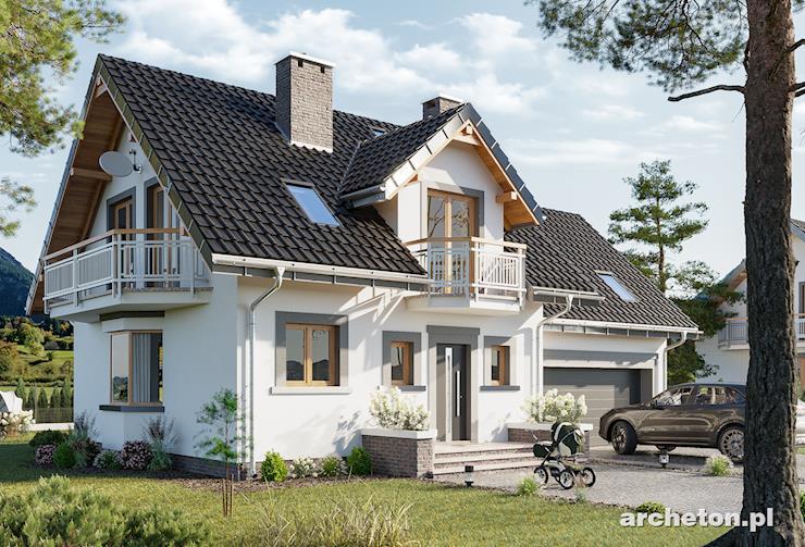 Projekt domu Zofia Prima G2 - dom z garażem na dwa samochody, z garderoba i łazienką w sypialni