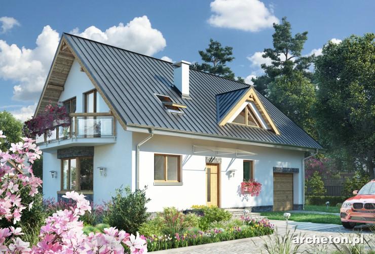 Projekt domu Zoja - dom z garażem na 1 samochód, kotłownią i spiżarką