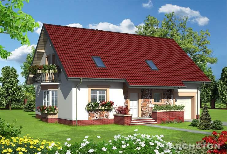 Projekt domu Zoja Eko - dom energooszczędny z możliwością montażu kolektorów słonecznych