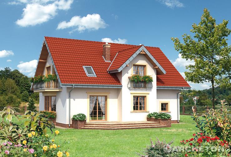 Projekt domu Zoja Bona - dom z podcieniem wejścia wspartym na łukach