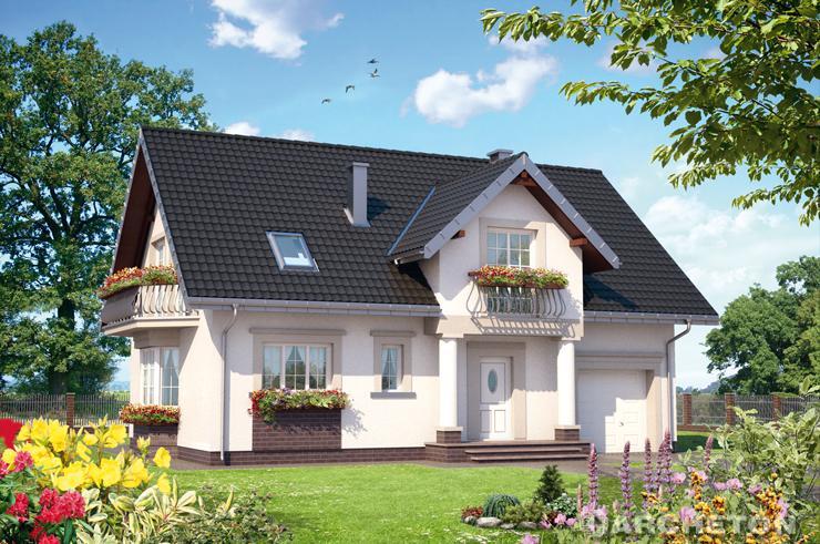 Projekt domu Zoja Hera - tradycyjny dom z dwiema łazienkami na poddaszu i pralnią