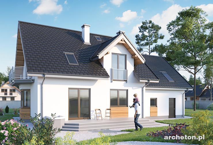 Projekt domu Zoja Lux G2 - atrakcyjny dom z garażem dwustanowiskowym
