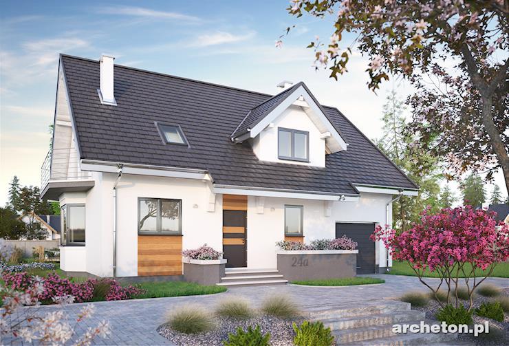 Projekt domu Zoja Lux Grota - funkcjonalny dom, całkowicie podpiwniczony