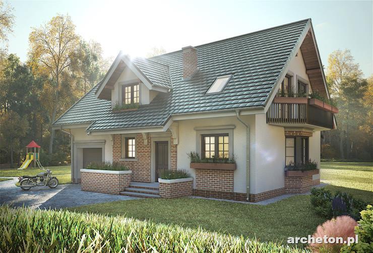 Projekt domu Zoja Luxor - przestronny i atrakcyjny dom z niewielką werandą