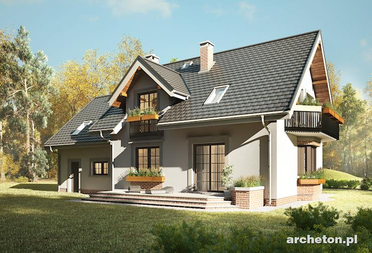 Projekt domu Zoja Luxor G2 - atrakcyjny i przestronny dom z garażem na 2 samochody