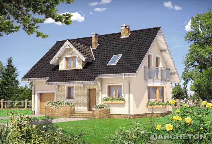 Projekt domu Zoja Neo - przytulny dom z wbudowanym garażem jednostanowiskowym