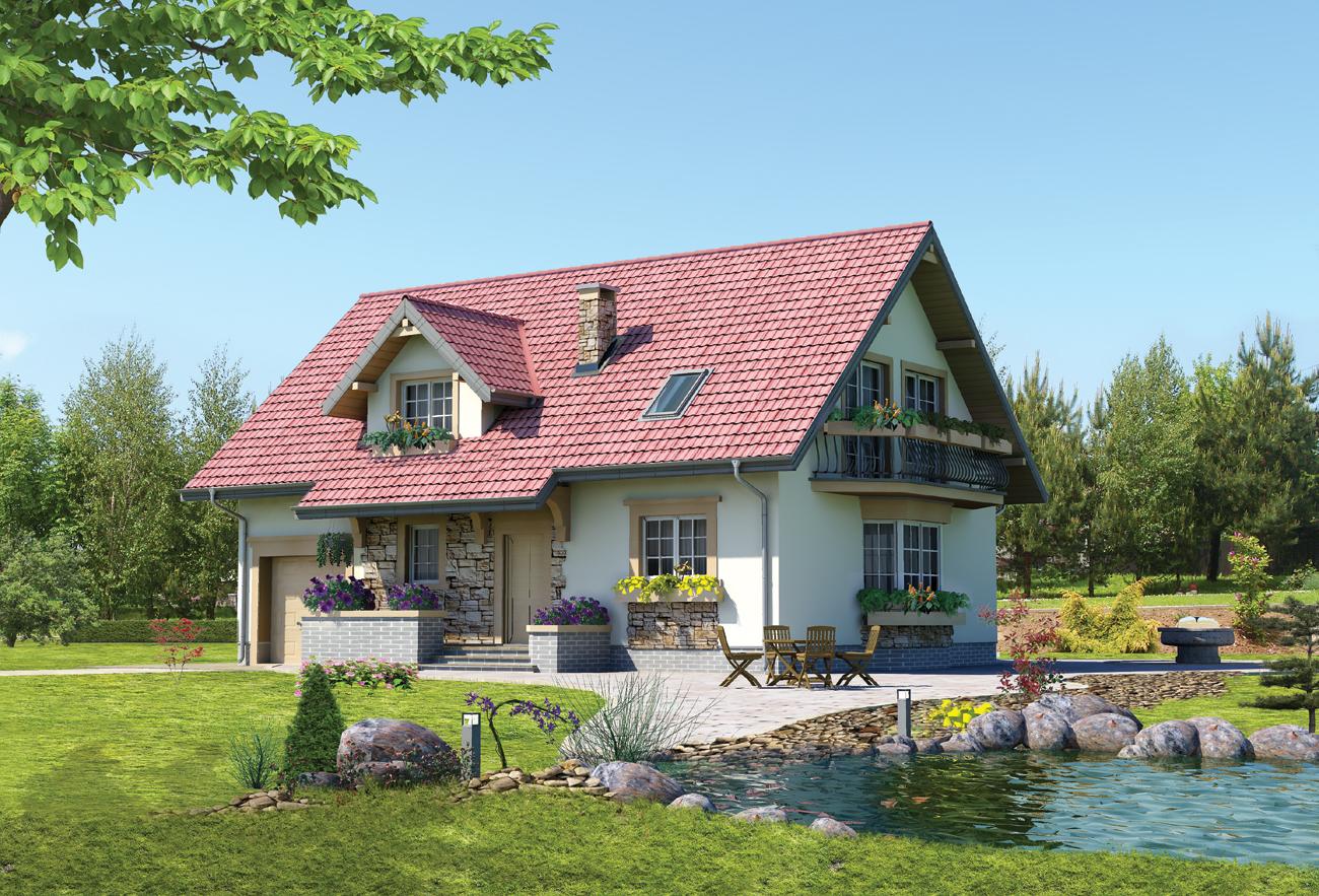 Проекты домов от 100 кв.м из пеноблоков кирпича и газоблоков