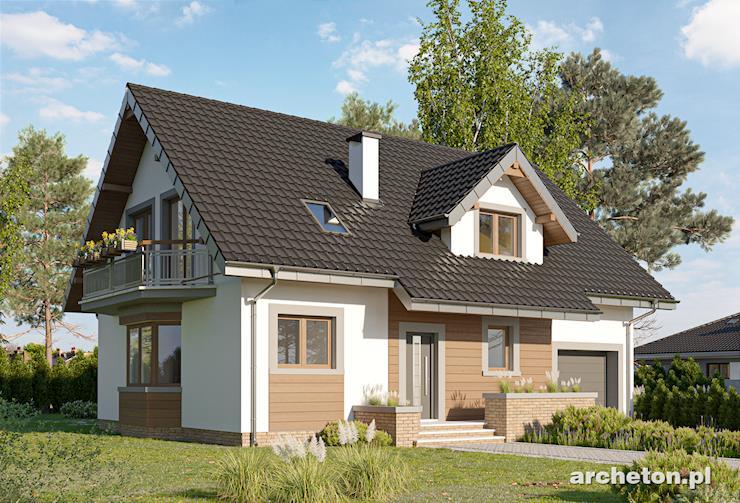 Projekt domu Zoja Polo - dom z 3 łazienkami i gabinetem na poddaszu