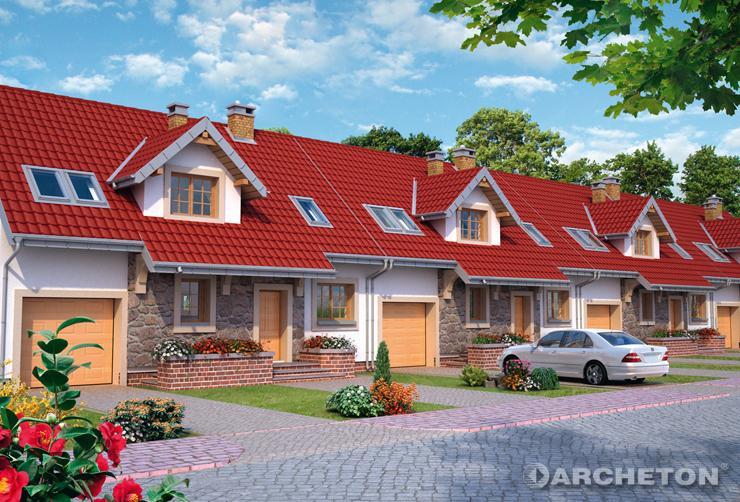 Projekt domu Zoja Rex Duo - dom z 3 łazienkami do zabudowy szeregowej