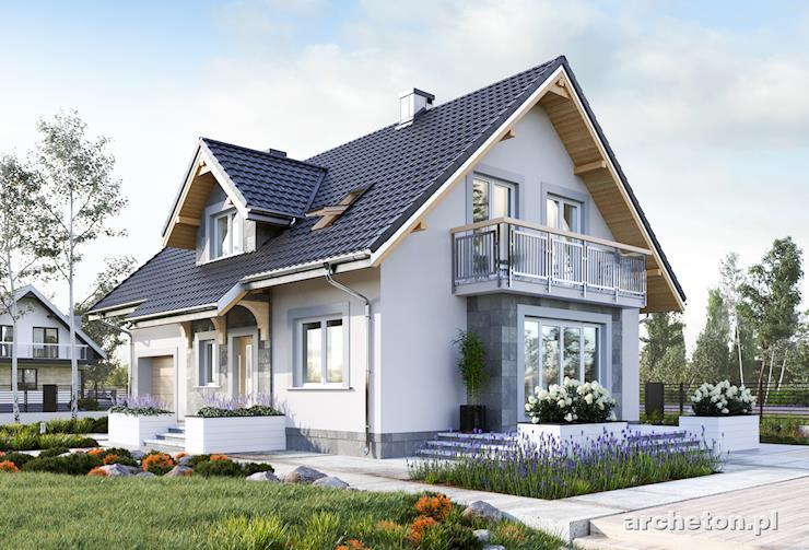 Projekt domu Zoja Solis - nowoczesny dom o prostej bryle, na rzucie prostokąta