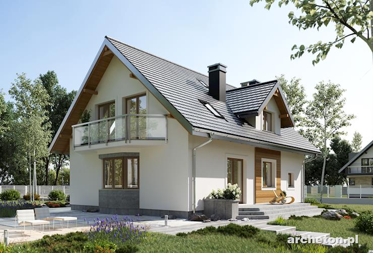 Projekt domu Zoja Ultra - dom z łazienką na parterze od frontu