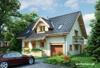 Projekt domu Zojka - dom z otwartą przestrzenią na parterze
