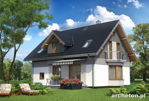 Projekt domu Zojka Mini - niewielki dom z gabinetem na parterze