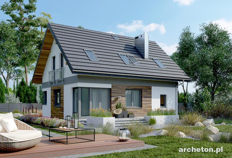 Projekt domu Zojka Nano - dom o prostej bryle i nowoczesnych detalach architektonicznych
