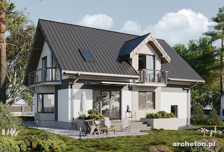 Projekt domu Zojka Stok - dom na działkę ze spadkiem terenu