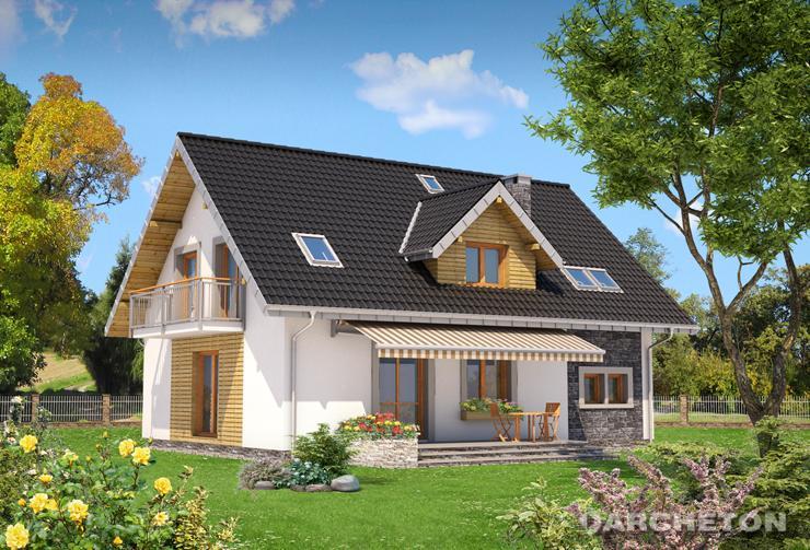 Projekt domu Zoltan - dom z dwiema dużymi łazienkami na poddaszu