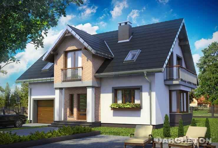 Projekt domu Zoltan Atu - funkcjonalny dom z 4 sypialniami na poddaszu i gabinetem na parterze