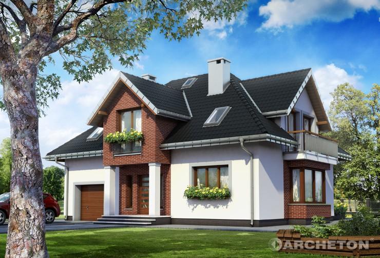 Projekt domu Zoltan Karo - imponujący dom z dekoracyjnym dachem czterospadowym
