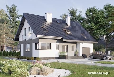 Projekt domu Zoltan Neo - nowoczesny dom z garażem w bryle budynku