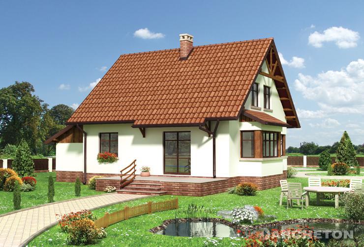 Projekt domu Żonkil - dom z nietypowym rozwiązaniem wejścia poprzez klatkę schodową