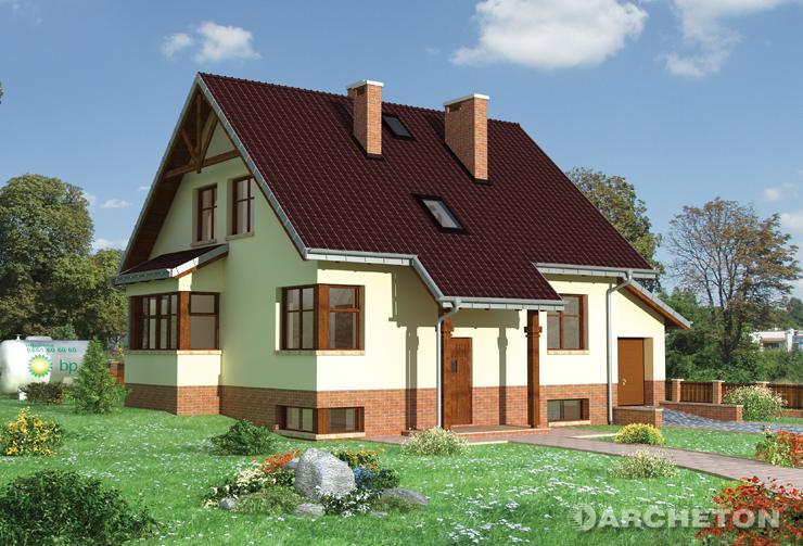 Projekt domu Żonkil-2 - dom z niewielkim spadkiem w kierunku wejścia