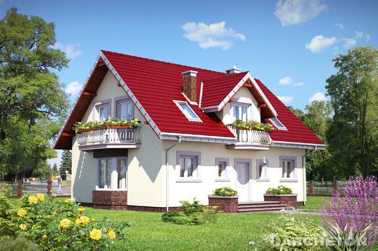 Projekt domu Zora - dom z dużym, przestronnym oraz otwartym pokojem dziennym