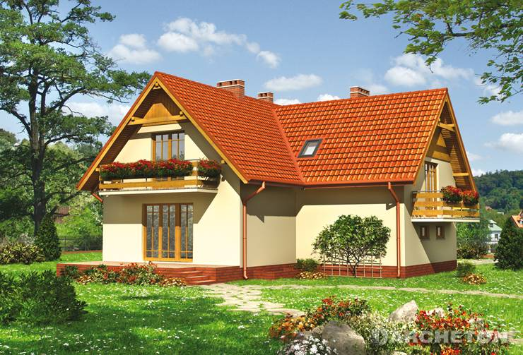 Projekt domu Zorza-2 - dom z garażem obniżonym w stosunku do parteru