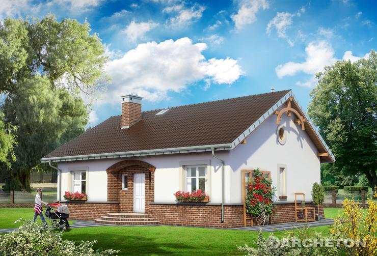 Projekt domu Zuza - malowniczy, niewielki domek parterowy, idealny dla 4 osób